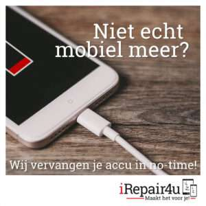 iRepair4u vervangt de iPhone batterij in no-time