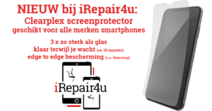 Ultrasterke screenprotector Clearplex iRepair4u