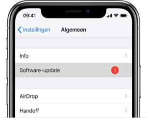 iOS software update