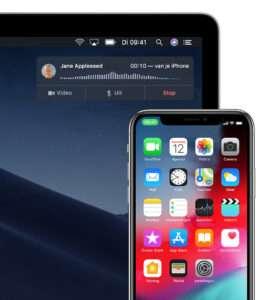 Bellen via iPad